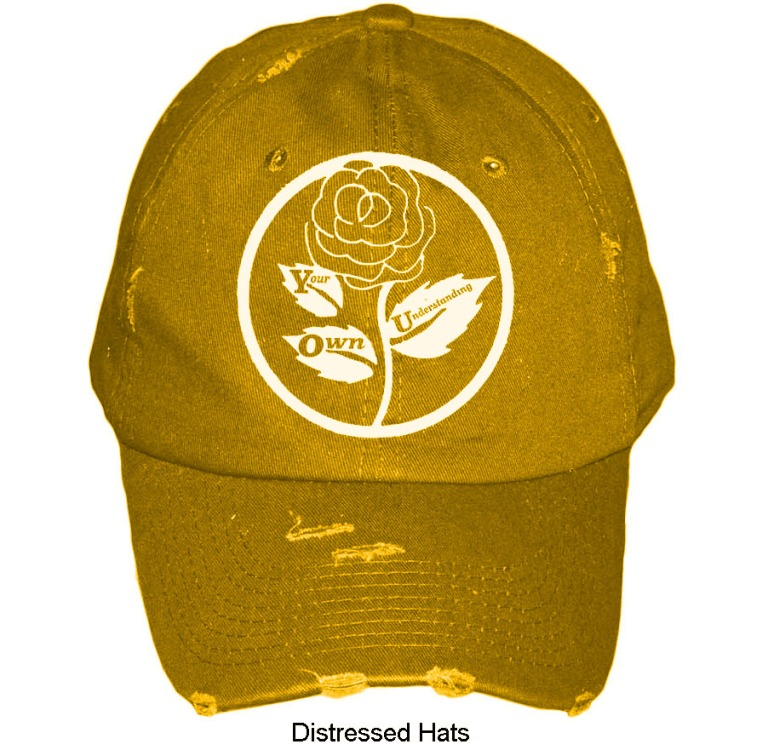 gold distressed-hat